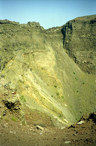 The crater at the top of Vesuvius - Naples, Italy ... July 15, 2001 ... Photo by Rob Page III