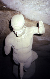 Statue - Pompeii, Italy ... July 14, 2001 ... Photo by Rob Page III