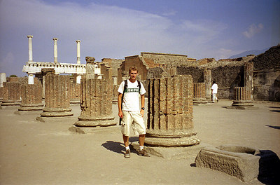 Rob at Pompeii - Pompeii, Italy ... July 14, 2001 ... Photo by Australian girl