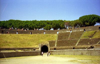 The Ampitheatre - Pompeii, Italy ... July 14, 2001 ... Photo by Rob Page III