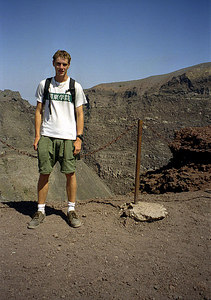Rob at the top of Vesuvius - Naples, Italy ... July 15, 2001 ... Photo by unknown tourist