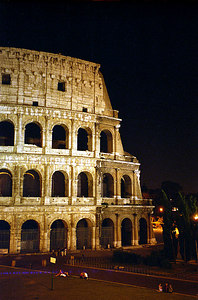The Roman Colosium still standing after all these years - Rome, Italy ... July 12, 2001 ... Photo by Rob Page III