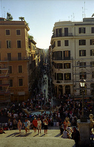 The view from the Spanish Steps - Rome, Italy. ... July 12, 2001 ... Photo by Rob Page III