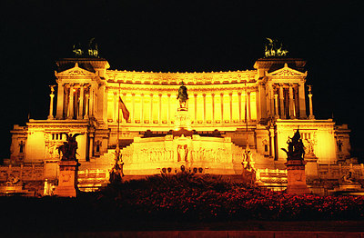 Monument to Vittorio Emanuele II, Piazza Venezia - Rome, Italy ... July 12, 2001 ... Photo by Rob Page III