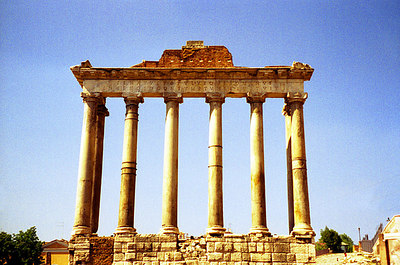 Some of the ruins at the Forum - Rome, Italy. ... July 13, 2001 ... Photo by Rob Page III
