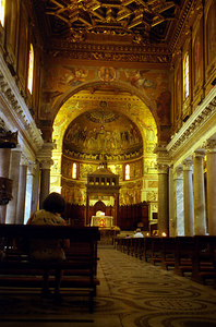 St. Maria in the Church of Trastevere near the Vatican City - Rome, Italy ... July 13, 2001 ... Photo by Rob Page III