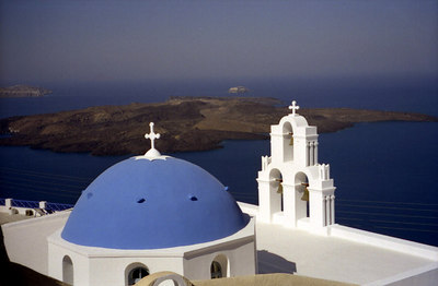 Santorini, Greece ... July 22, 2001 ... Photo by Rob Page III