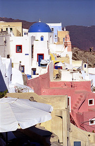 Oia - Santorini, Greece ... July 21, 2001 ... Photo by Rob Page III