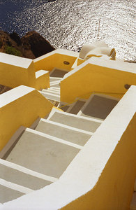 Greek Staircase - Santorini, Greece ... July 22, 2001 ... Photo by Rob Page III