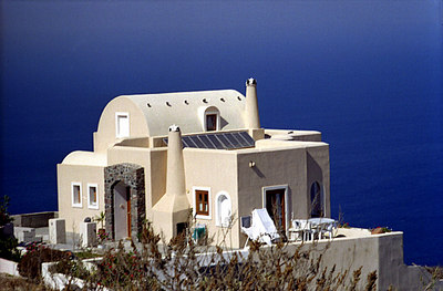 Can't beat the view - Santorini, Greece ... July 21, 2001 ... Photo by Rob Page III