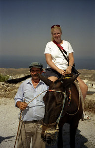 Tourism - Santorini, Greece ... July 21, 2001 ... Photo by Rob Page III