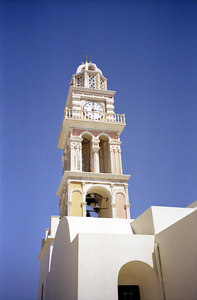 Santorini Belltower - Santorini, Greece ... July 21, 2001 ... Photo by Rob Page III