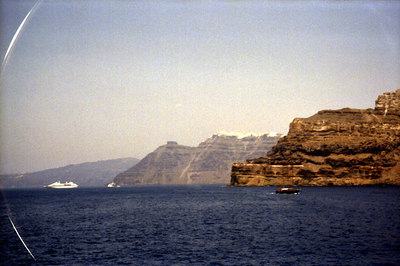 The cliffs of Santorini - Santorini, Greece ... July 21, 2001 ... Photo by Rob Page III