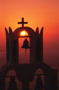 Sunset - Santorini, Greece ... July 21, 2001 ... Photo by Rob Page III