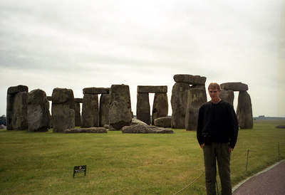 Rob at Stonehenge.  An English mystery 5000 years in the making. ... June 19, 2001