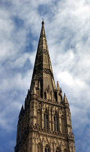 The Salisbury Cathedral.  Built from 1075-1092.  It now houses the Magna Carta. ... June 19, 2001