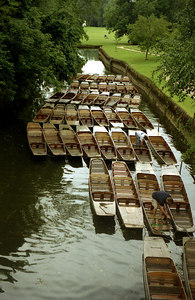The punts that traverse the canals of Oxford. ... June 20, 2001