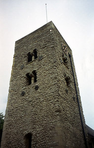 This Carfax Tower.  It is all that remains of St. Martins Church which was built in 1818.  The church was demolished in 1896, but the clock tower remains. ... June 20, 2001 ... Photo by Rob Page III
