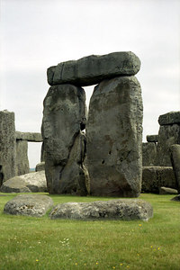One of the stone structures at Stonehenge in Salisbury, England. ... June 19, 2001