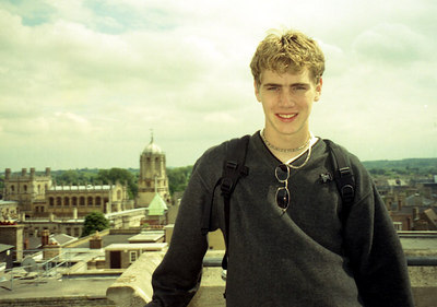 Rob with the main tower of Christ Church College in the background.  ... June 20, 2001 ... Photo of Rob Page III