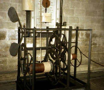The Salisbury Clock. This is one of the oldest clocks, if not the oldest, in the world.  It was cast in the 14th Century. ... June 19, 2001