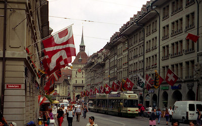 The cityscape of Bern, Switzerland. ... July 4, 2001 .... Photo by Rob Page III