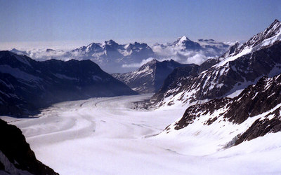 The Great Aletsch Glacier - Switzerland. ... July 3, 2004 ... Photo by Rob Page III