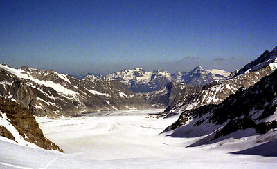 Great Aletsch Glacier - Switzerland. ... July 2, 2001 ... Photo by Rob Page III