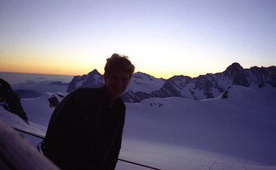 I love the mointains. Mönchsjochhutte hut - Switzerland. ... July 3, 2001 ... Self-photo by Rob Page III