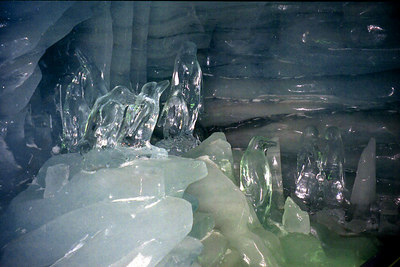 Ice Penguins in the Ice Palace at the Jungfraujoch - Switzerland. ... July 3, 2001 ... Photo by Rob Page III