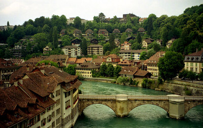 The Aare River flowing through Ber, Switzerland. ... July 4, 2001 ... Photo by Rob Page III