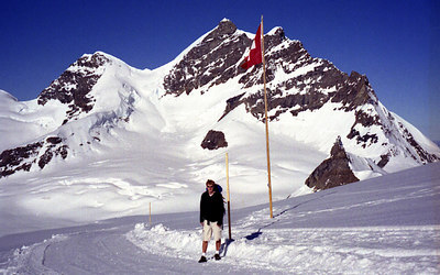 Rob and the Jungfrau. ... July 3, 2001 ... Photo by Rob Page III
