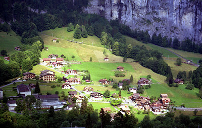 Wengenwald, Switzerland. ... July 3, 2001 ... Photo by Rob Page III