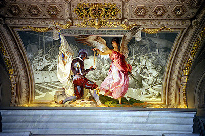 A painting inside of St. Peters - Vatican City. ... July 12, 2001 ... Photo by Rob Page III