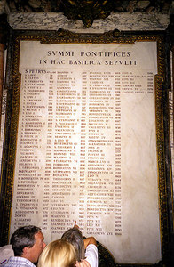 A list of all the Pontiffs - Vatican City. ... July 12, 2001 ... Photo by Rob Page III