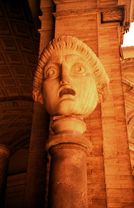 A statue in the Vatican Museums - Vatican City. ... July 12, 2001 ... Photo by Rob Page III