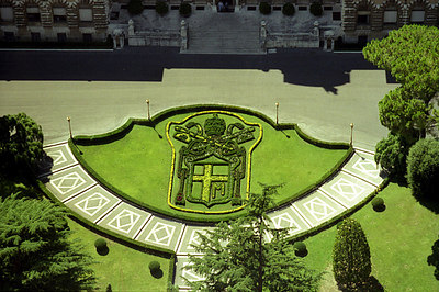 Some of the landscaping done on the Vatican grounds - Vatican CIty. ... July 12, 2001 ... Photo by Rob Page III