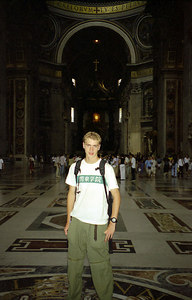 Rob inside of St. Peter's in the Vatican City. ... July 12, 2001 ... Photo by unknown