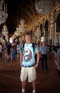 Rob in the Chateau of Versailles, Hall of Mirrors. ... June 26, 2001 ... Photo by unknown