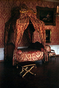 Chateau of Versailles, Apartment of the King, Bedchamber.  The King's bed. ... June 26, 2001 ... Photo by Rob Page III