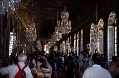 Chateau of Versailles, Hall of Mirrors. ... June 26, 2001 ... Photo by Rob Page III