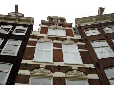 Looking up at the buildings on Muntplein - Amsterdam, Netherlands ... June 15, 2006 ... Photo by Rob Page III