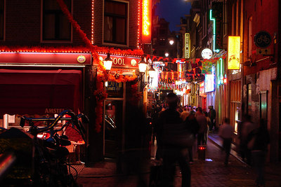 The streets at night - Amsterdam, Netherlands ... June 15, 2006 ... Photo by Rob Page III
