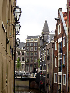 One of the canals near Anne Frank's house - Amsterdam, Netherlands ... June 15, 2006 ... Photo by Rob Page III