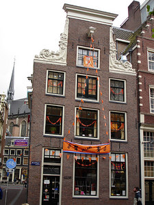 Throught the city many buildings and establishments were decorated for the World Cup. HUP HOLLAND - Amsterdam, Netherlands ... June 15, 2006 ... Photo by Rob Page III