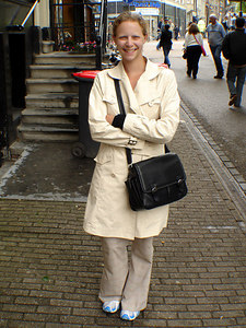 Emily, all happy after going through the Bloemenmarkt - Amsterdam, Netherlands ... June 15, 2006 ... Photo by Rob Page III