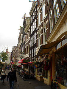 Looking down Muntplein with the Bloemenmarkt on the left - Amsterdam, Netherlands ... June 15, 2006 ... Photo by Rob Page III