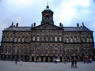 Koninklijk Paleis (Royal Palace).  This Palace was originally constructed as city hall in the 17th Century, but when Napoleon visited in the early 19th Century he converted it to the Royal Palace - Amsterdam, Netherlands ... June 15, 2006 ... Photo by Rob Page III