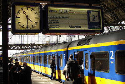 Life on the platform at Amsterdam Centraal Train Station - Amsterdam, Netherlands ... June 16, 2006 ... Photo by Rob Page III