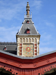 The facade of the gorgeous Amsterdam Centraal Train Station - Amsterdam, Netherlands ... June 16, 2006 ... Photo by Rob Page III